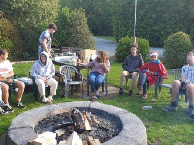 Dinner round the campfire